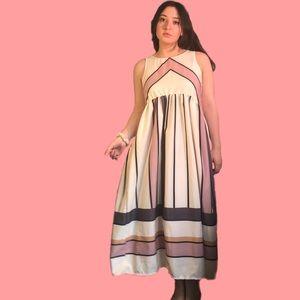Gorgeous color block maxi dress